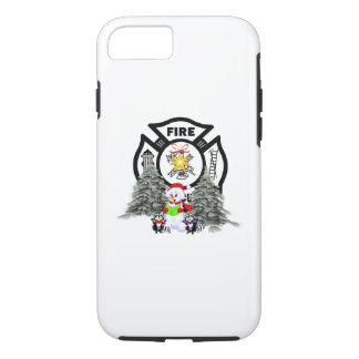 Coque iPhone 8/7 Scène de Noël de département du feu