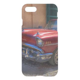 Coque iPhone 8/7 Scène de rue avec la vieille voiture à La Havane