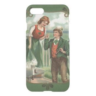 Coque iPhone 8/7 Shamrock irlandais de Shillelagh de couples