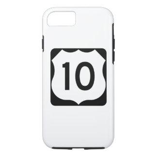 Coque iPhone 8/7 Signe de l'itinéraire 10 des USA