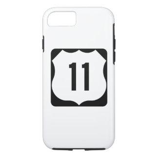Coque iPhone 8/7 Signe de l'itinéraire 11 des USA