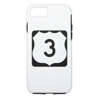 Coque iPhone 8/7 Signe de l'itinéraire 3 des USA