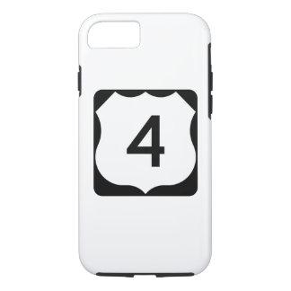 Coque iPhone 8/7 Signe de l'itinéraire 4 des USA