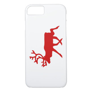 Coque iPhone 8/7 Silhouette rouge de renne/caribou