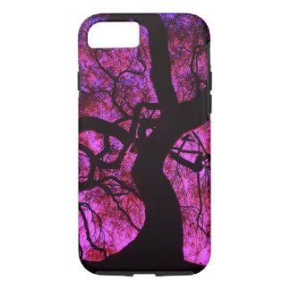 Coque iPhone 8/7 Sous l'arbre dans le rose/pourpre