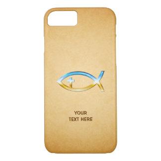 Coque iPhone 8/7 Symbole chrétien de poissons sur le papirus