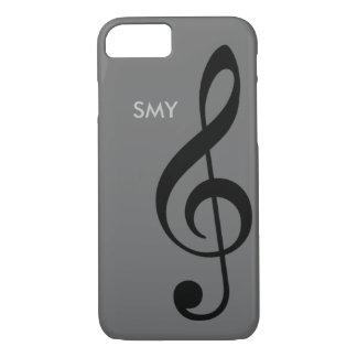 Coque iPhone 8/7 symbole de musique (clef triple) avec des