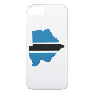 Coque iPhone 8/7 symbole de silhouette de forme de carte de drapeau