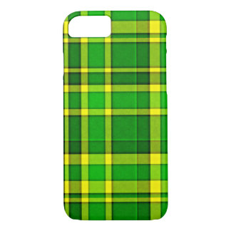 Coque iPhone 8/7 Tartan jaune vert de plaid
