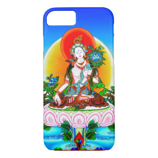 Coque iPhone 8/7 Tatouage blanc Tara de thangka tibétain oriental