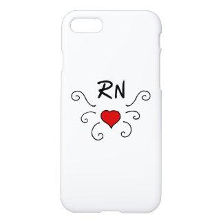 Coque iPhone 8/7 Tatouage d'amour de RN d'infirmières