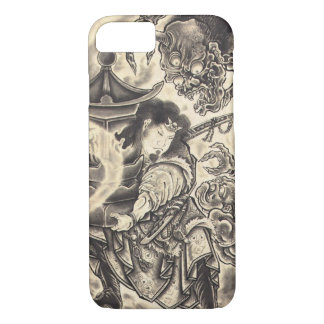 Coque iPhone 8/7 Tatouage japonais vintage classique frais d'encre