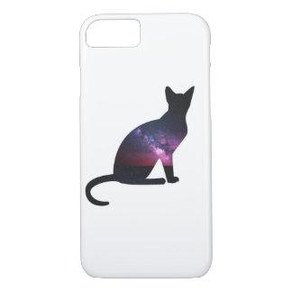 Coque iPhone 8/7 Téléphone de chat de galaxie