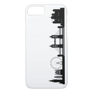 Coque iPhone 8/7 Téléphone de silhouette d'horizon de Londres ou