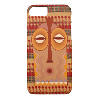 Coque iPhone 8/7 Textile et masque africains de Zulufied