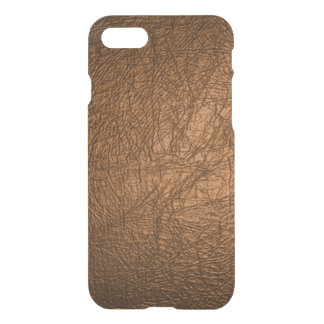 Coque iPhone 8/7 texture en cuir brune