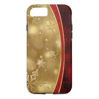 Coque iPhone 8/7 textures élégantes noires rouges de vecteur