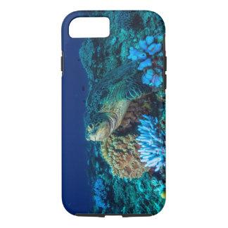 Coque iPhone 8/7 Tortue de mer sur la Grande barrière de corail