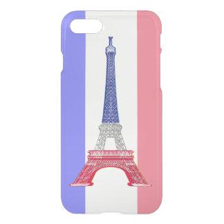 Coque iPhone 8/7 Tour Eiffel français de drapeau de Paris