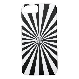 Coque iPhone 8/7 ~ transparent de RAYONS (une conception noire et