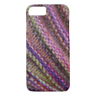 Coque iPhone 8/7 Tricotage dans des couleurs de coucher du soleil