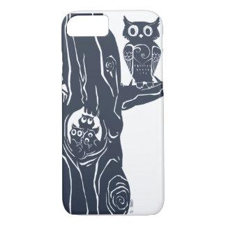 Coque iPhone 8/7 trois jeunes hiboux dans un arbre