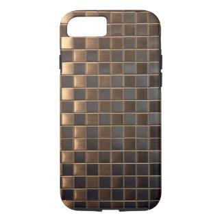 Coque iPhone 8/7 Tuile de cuivre d'Aluminium-Effet