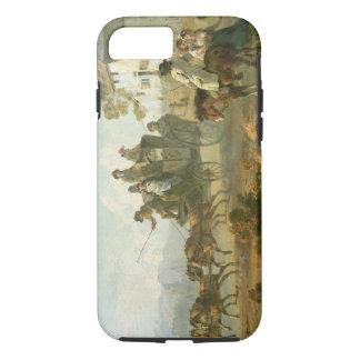 Coque iPhone 8/7 Un car d'étape sur une route de campagne, 1792