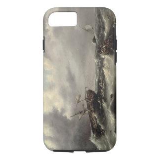 Coque iPhone 8/7 Une tempête en mer (huile sur le panneau)