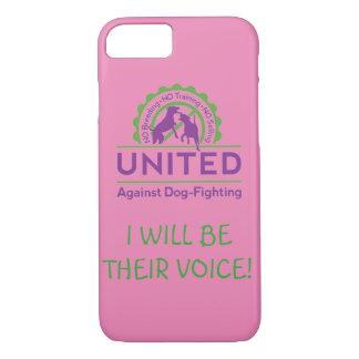Coque iPhone 8/7 UNI contre le cas de Chien-Combat de téléphone