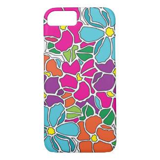 Coque iPhone 8/7 Verre souillé floral vibrant