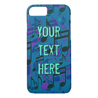 Coque iPhone 8/7 Vert bleu de motif de musique de note musicale