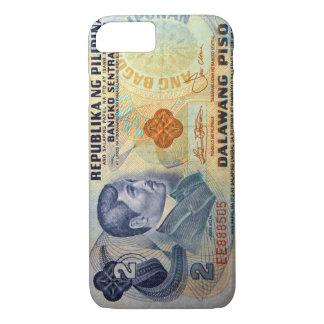 Coque iPhone 8/7 Vieil argent de Philippine de vingt pesos