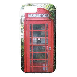 Coque iPhone 8/7 Vieille cabine téléphonique rouge anglaise