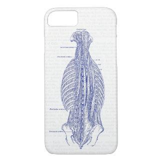 Coque iPhone 8/7 Vieille illustration d'anatomie le dos