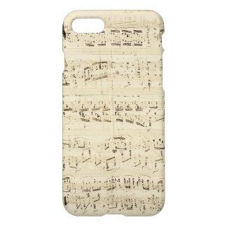 Coque iPhone 8/7 Vieilles notes de musique - feuille de musique