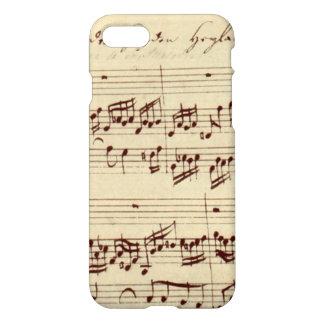 Coque iPhone 8/7 Vieilles notes de musique - feuille de musique de