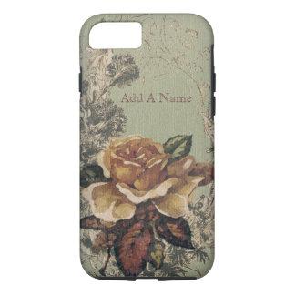 Coque iPhone 8/7 Vieux roses anglais jaunes