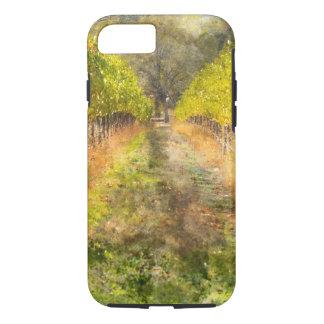 Coque iPhone 8/7 Vignoble de Napa Valley dans l'automne
