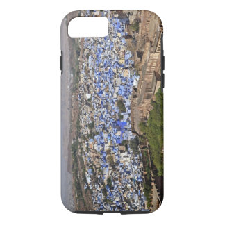 Coque iPhone 8/7 Ville bleue vue du fort/de Jodhpur de Mehrangarh,