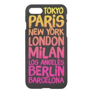 Coque iPhone 8/7 Villes préférées au néon