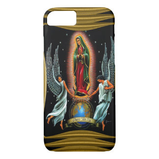 Coque iPhone 8/7 Virgen De Guadalupe (avec des anges)