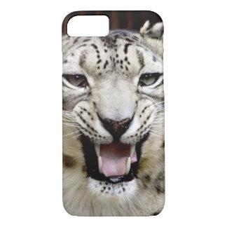 Coque iPhone 8/7 Visage de léopard de neige