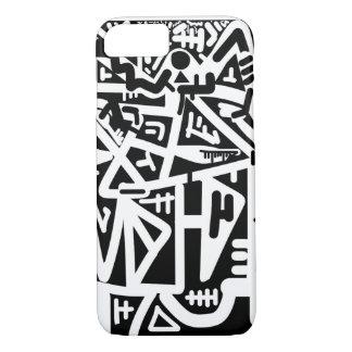 Coque iPhone 8/7 Visage noir et blanc d'horizon