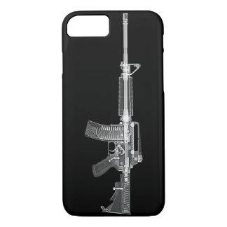 Coque iPhone 8/7 Vraie TOMODENSITOMÉTRIE AR-15 du RAYON X ÉLEVÉ de