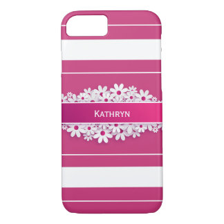 Coque iPhone 8/7 w/Daisies assez rose et Girly
