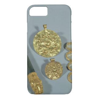 Coque iPhone 8/7 Whetstone et anneaux avec la décoration granulée,