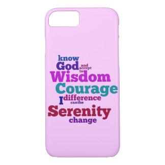 Coque iPhone 8/7 Wordle de prière de sérénité