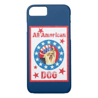 Coque iPhone 8/7 Yorkie patriotique