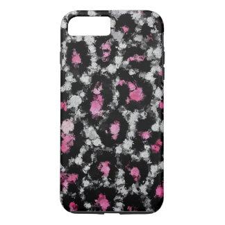 Coque iPhone 8 Plus/7 Plus Abrégé sur blanc rose guépard